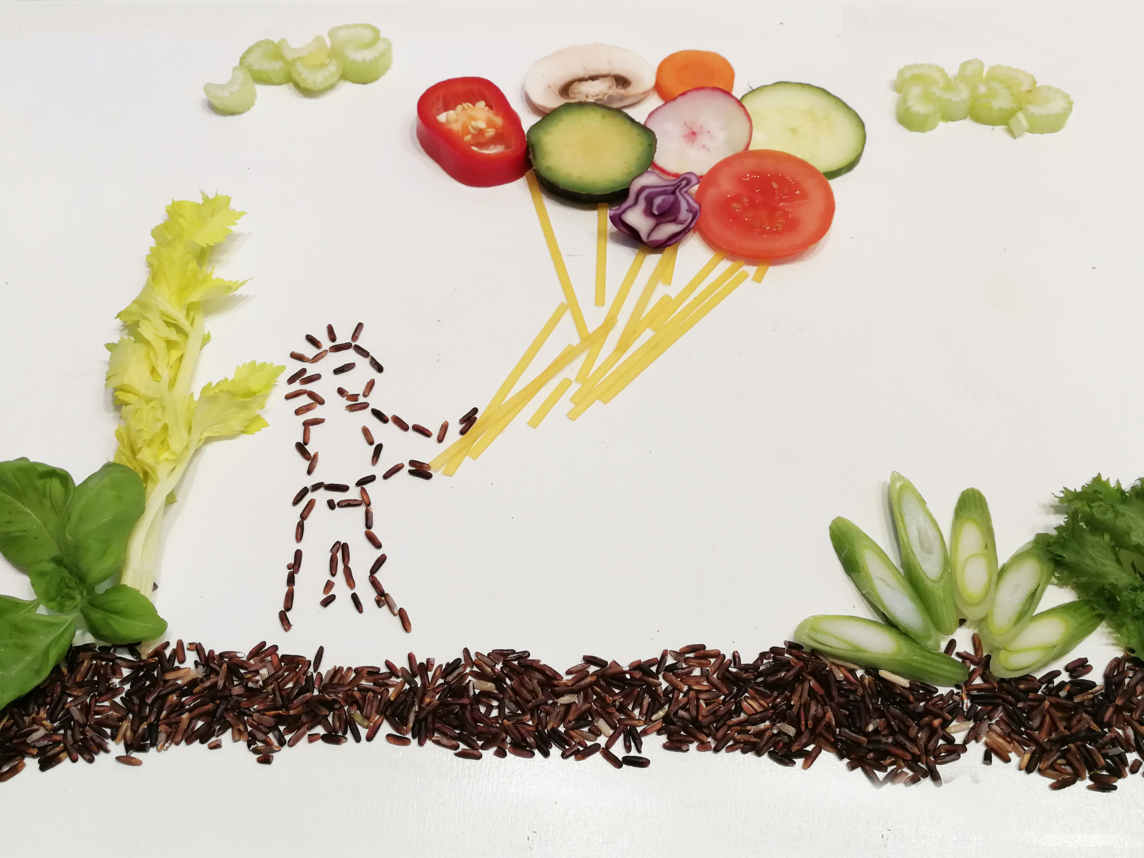 Gemüse Bild Schnabel-auf