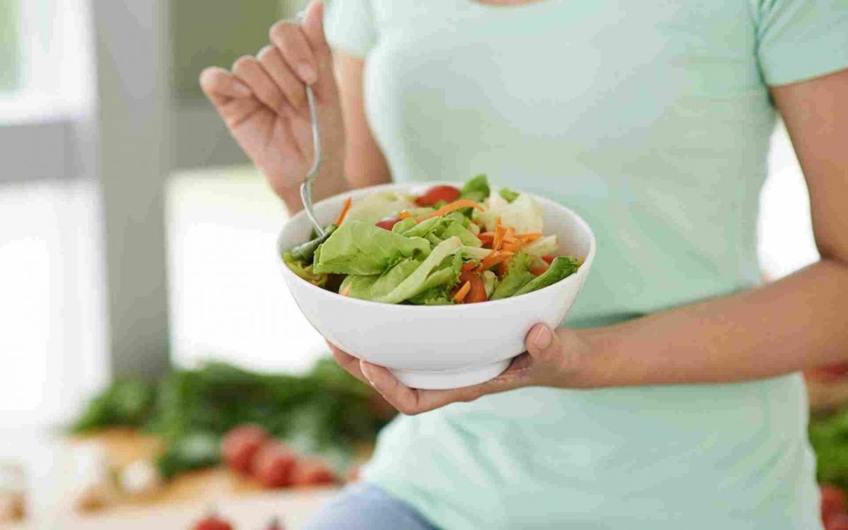 Salat Schnabel-auf