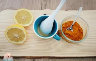 Zitrone Kurkuma Schnabel-auf