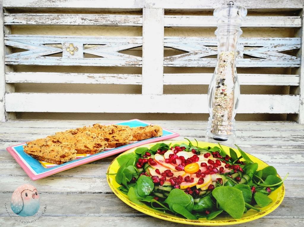 Granatapfel Salat schnabel-auf