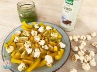 Popcorn gelber Salat schnabel-auf.de