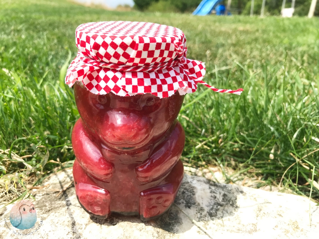 Kirsch Rhabarber Marmelade schnabel-auf