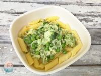 Nudeln mit grünerm Gemüse schnabel-auf.de