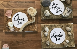 Urlaubserinnerungen Erinnerungen Urlaub Sand Muscheln DIY schnabel-auf