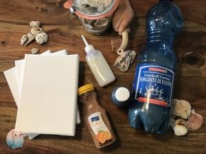 Erinnerungen Urlaub Sand Muscheln DIY schnabel-auf
