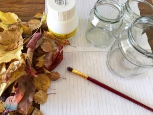 Herbstblätter Windlicht (7)