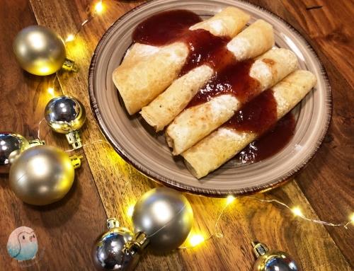 Weihnachtliche Pfannkuchen, vegan