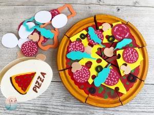 Vorwerk Twercs DIY Pizza Spielpizza basteln Holzspielzeug