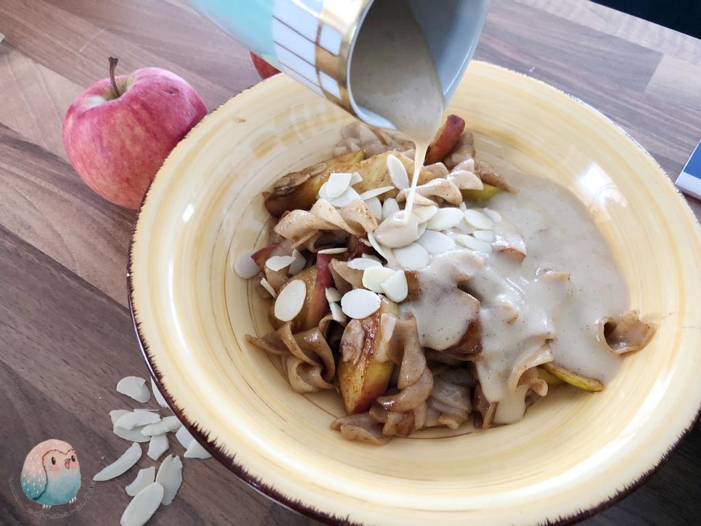 Bratapfel Nudeln Pasta Vanillesauce vegan Bernbacher (8)