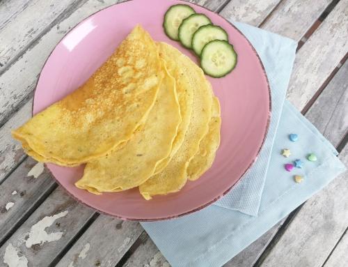 Pfannkuchen aus Kichererbsenmehl