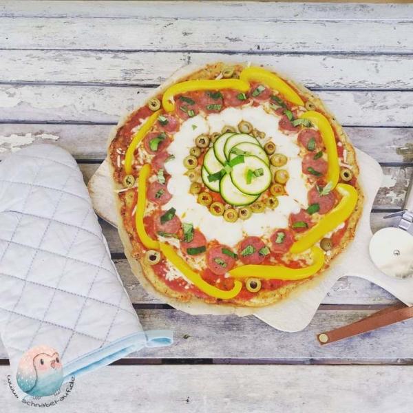 Pizza mit Quarkboden schnabel-auf.de