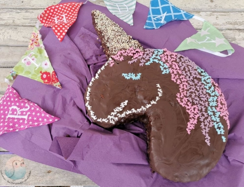 Kindergeburtstag: Einhornkuchen glutenfrei
