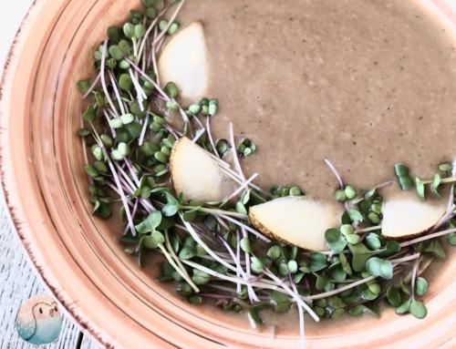 Wintergemüsesuppe mit Birnen