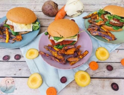 Burger mit Wurzelgemüse – vegetarisch