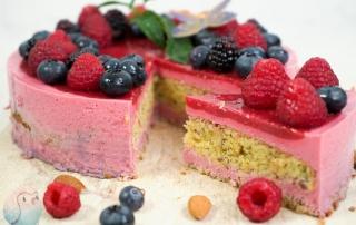 Low Carb Kuchen mit Beeren Schnabel-auf.de